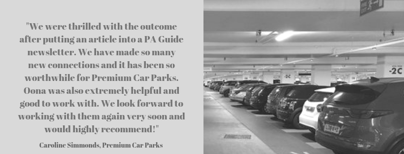 Premium Car Parks testimonial